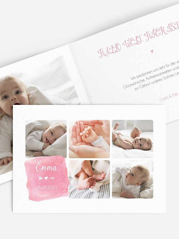 Geburtskarte Paint & Pictures