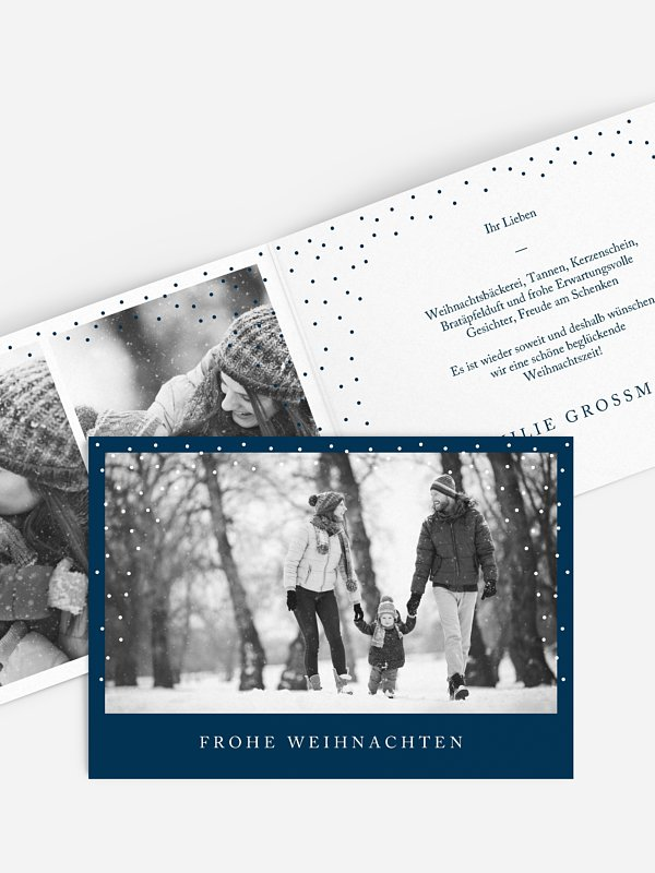 Weihnachtskarte Unvergessliche Zeit