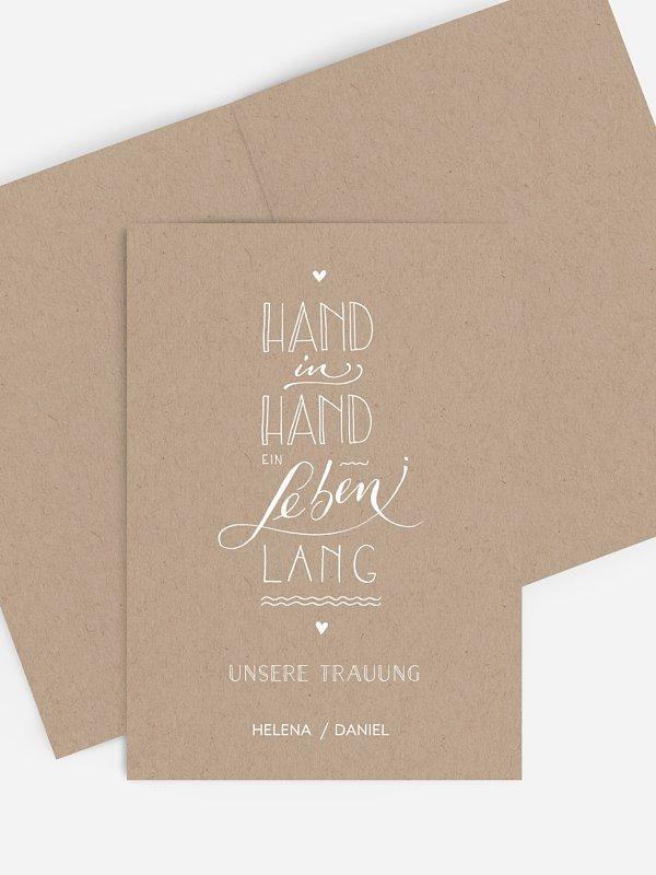 Kirchenheft Hochzeit Hand in Hand