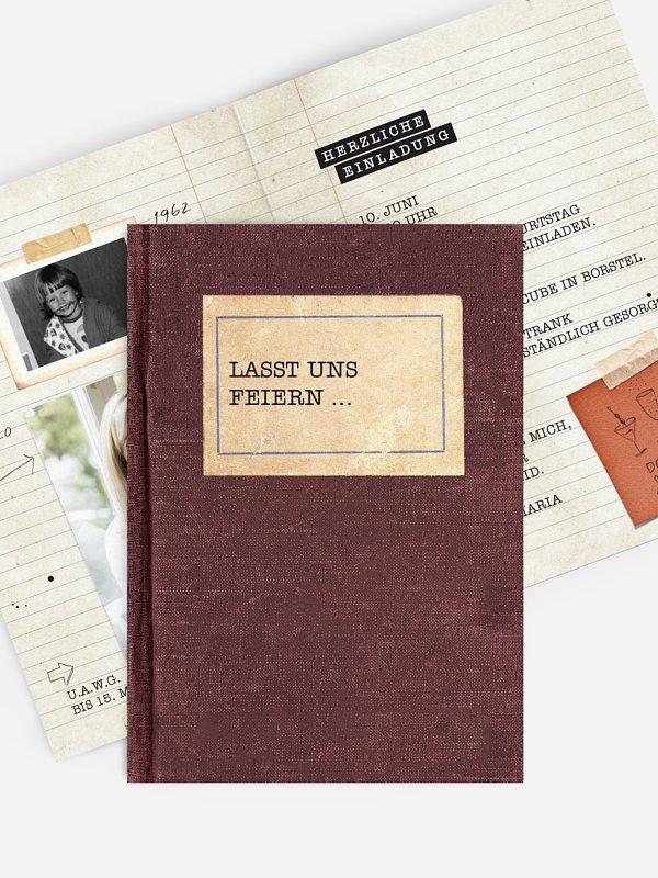 Geburtstagseinladung Notizbuch