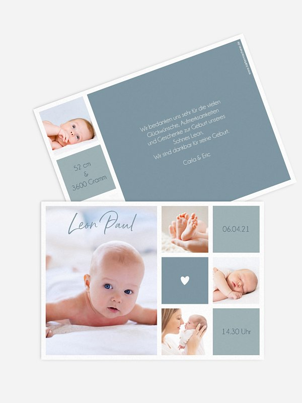Geburtskarte Little Heart