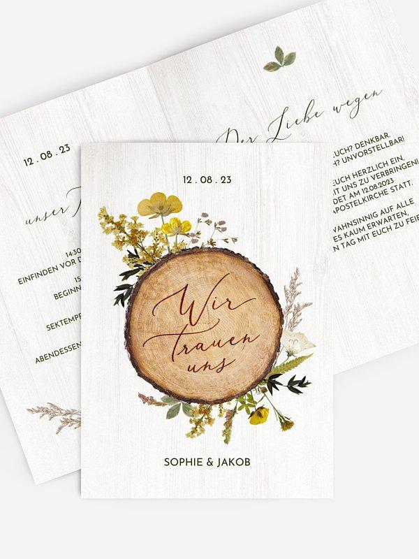 Hochzeitseinladung Forest Love