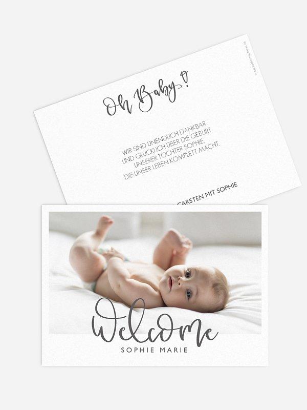 Geburtskarte Wahres Wunder