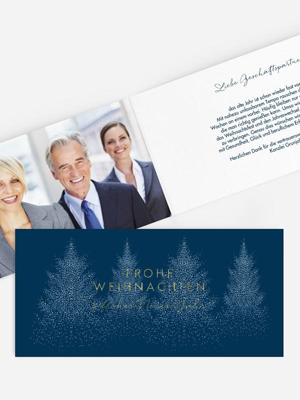 Premium-Weihnachtskarte Tannenduft