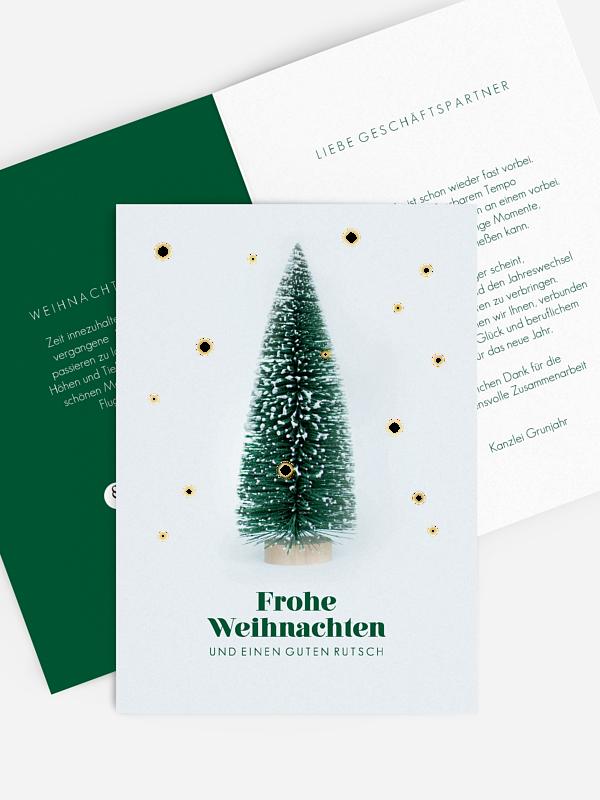 Geschäftliche Weihnachtskarte Christmas Cosmos