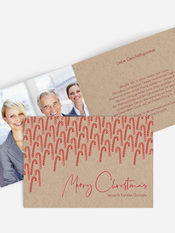 weihnachtskarten zuckerstange