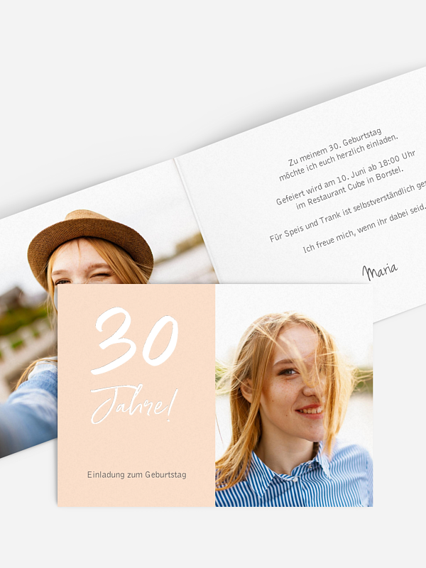 Einladung 30. Geburtstag Mein Jahr