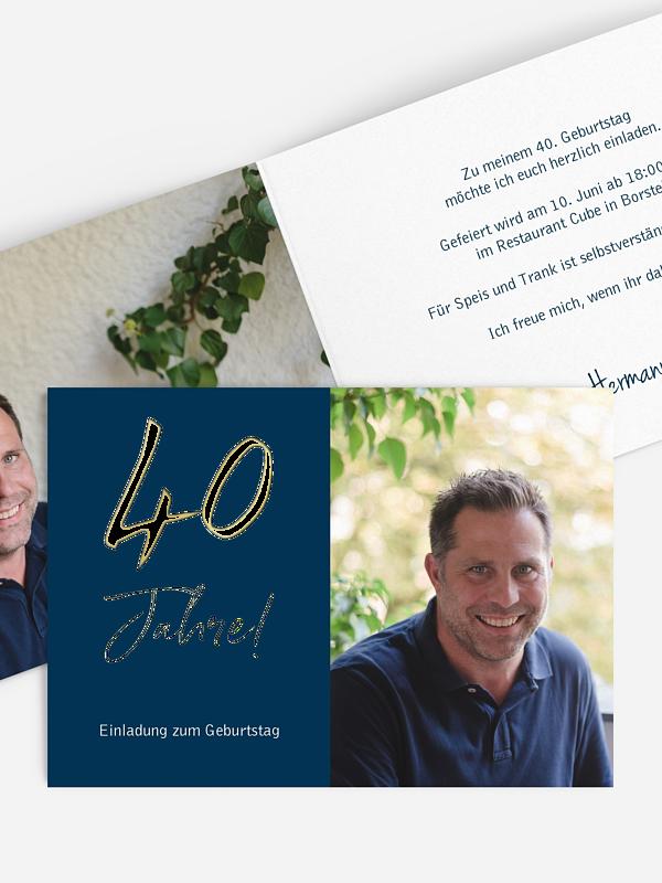 Einladung 40. Geburtstag Mein Jahr