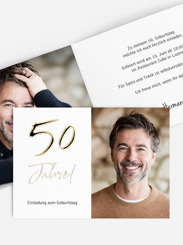 Einladung 50. Geburtstag Mein Jahr