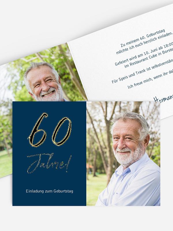 Einladung 60. Geburtstag Mein Jahr