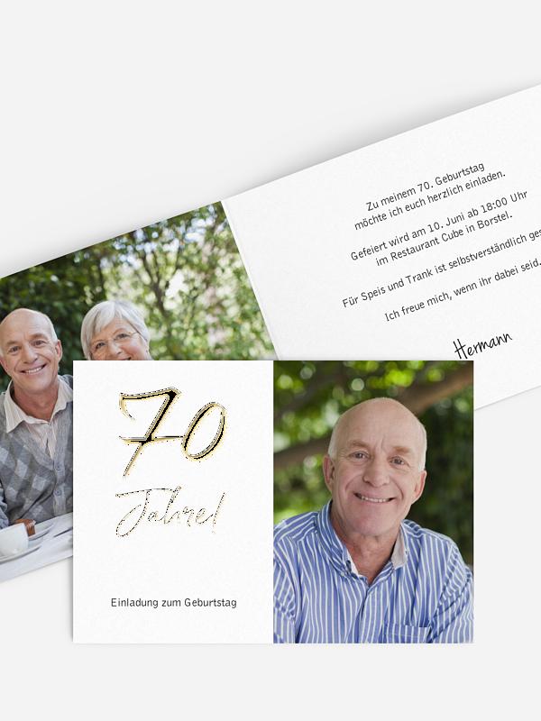 Einladung 70. Geburtstag Mein Jahr