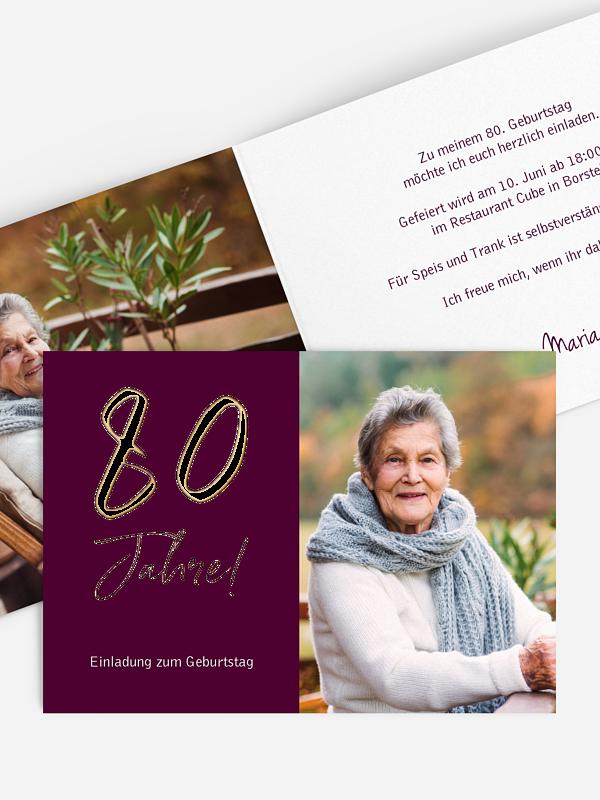 Einladung 80. Geburtstag Mein Jahr