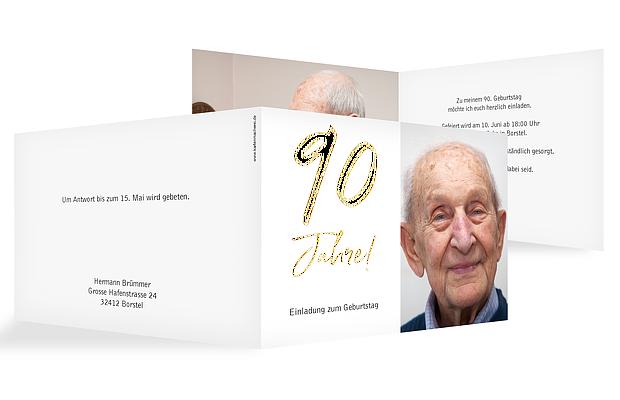 Einladung 90. Geburtstag Mein Jahr