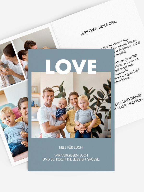Grußkarte Simply Love