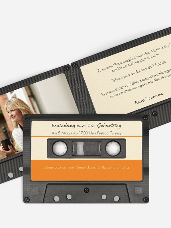 Einladung 60. Geburtstag Tonband