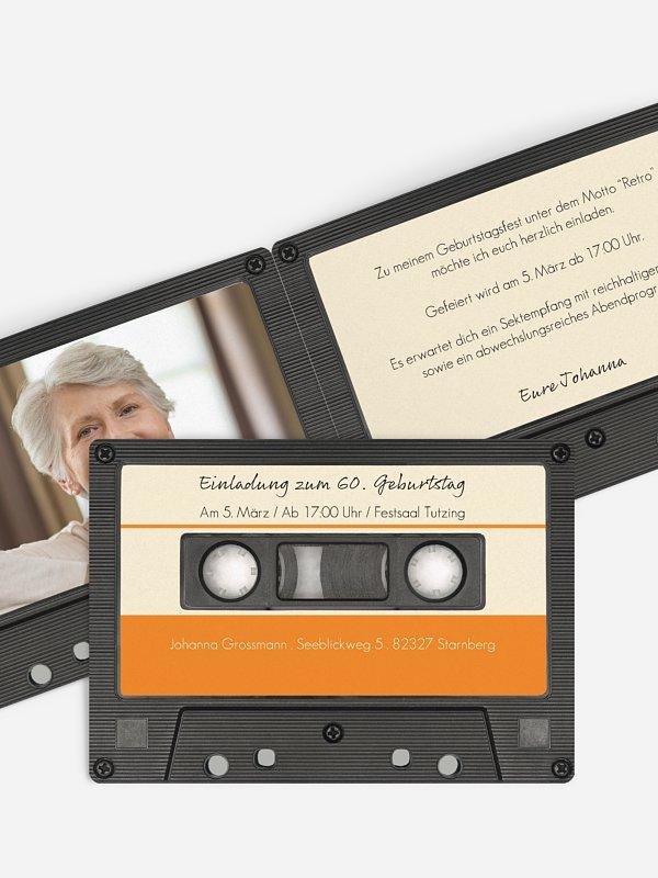Einladung 70. Geburtstag Tonband