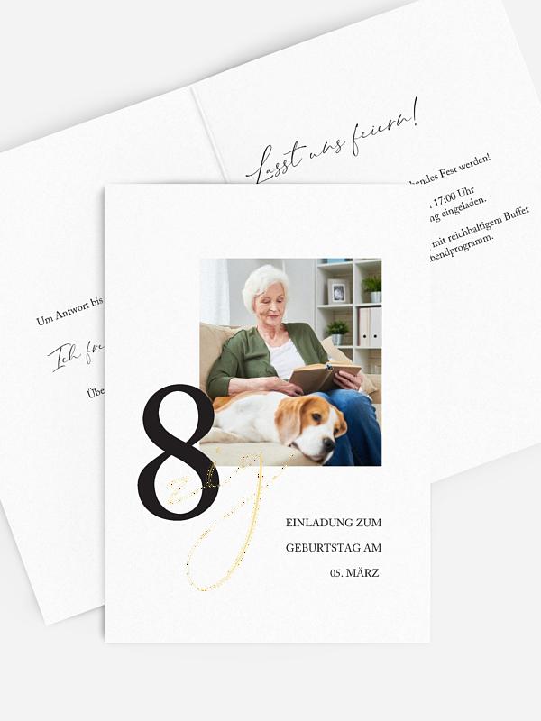 Einladung 80. Geburtstag Neues Jahrzehnt