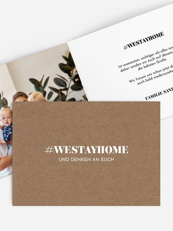 Grußkarte Westayhome