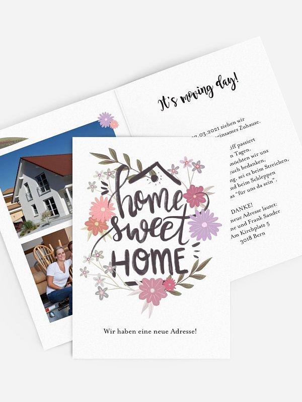 Umzugskarte Sweet Home