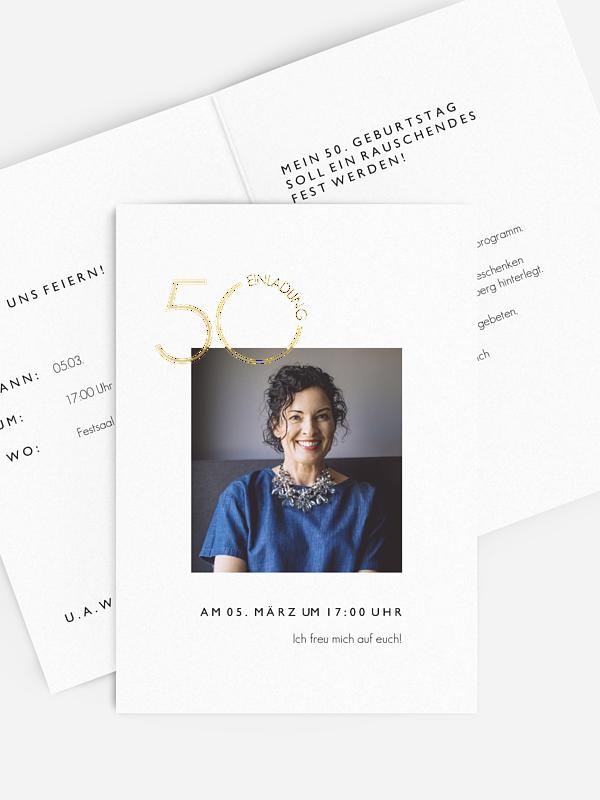 Einladung 50. Geburtstag Ehren Tag