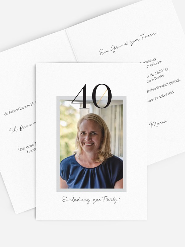 Einladung 40. Geburtstag Frame