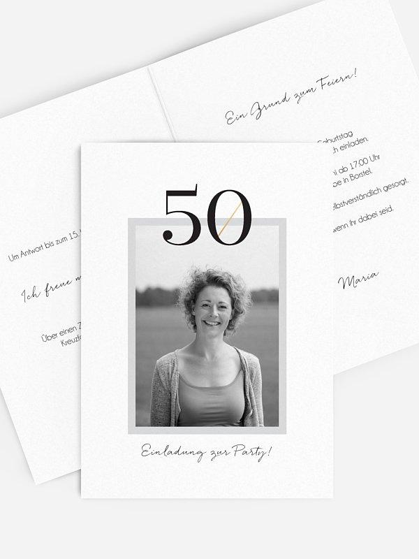 Einladung 50. Geburtstag Frame