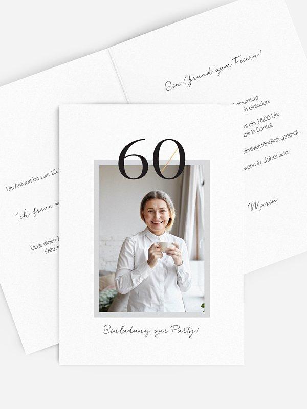 Einladung 60. Geburtstag Frame