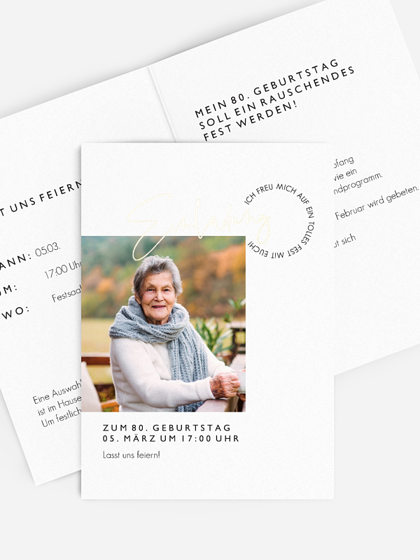 Einladung 80. Geburtstag Lebensweg