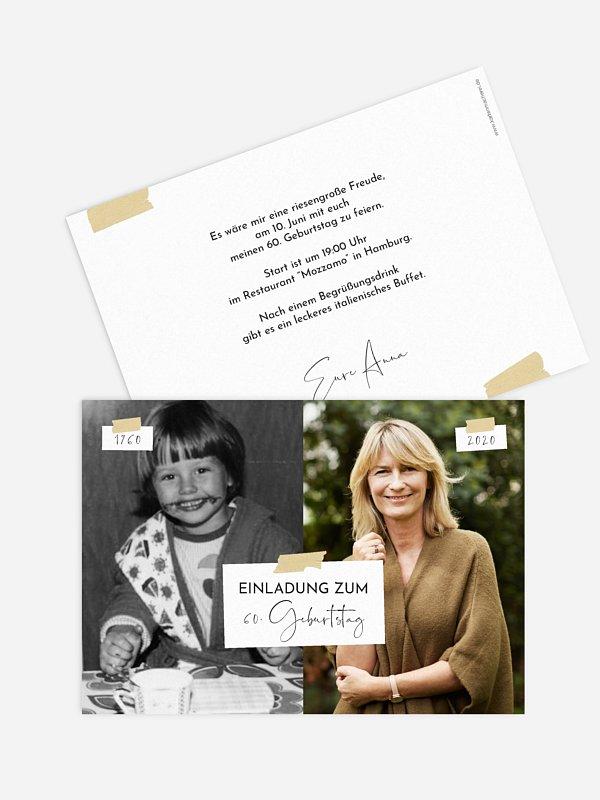 Einladung 60. Geburtstag Zeitreise