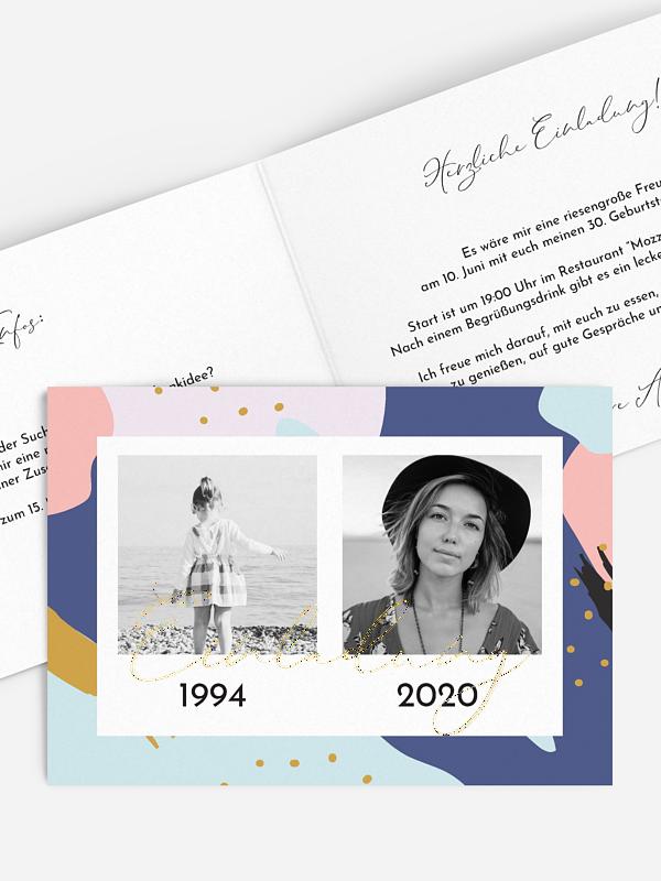 Einladung 30. Geburtstag Pattern