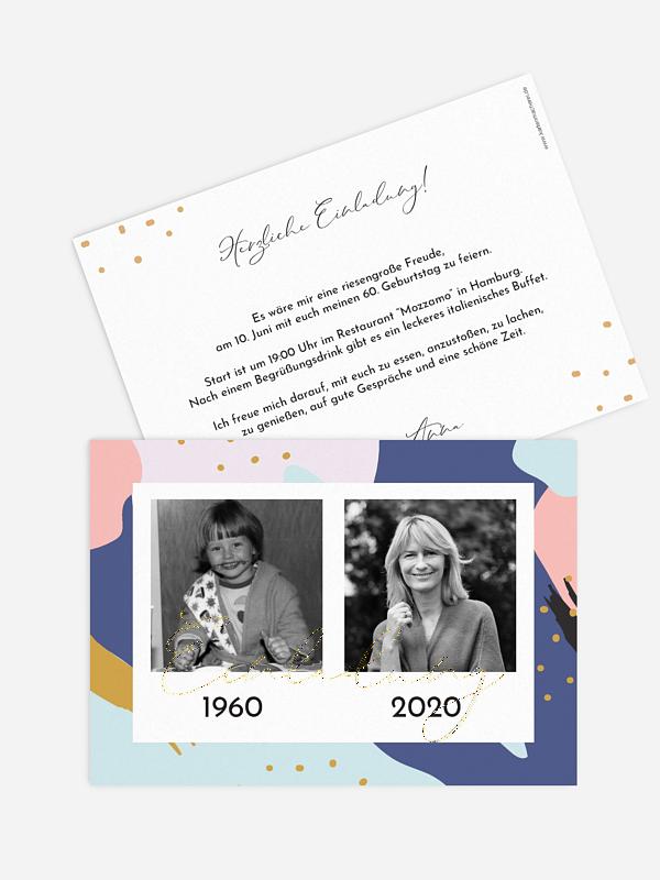 Einladung 60. Geburtstag Pattern