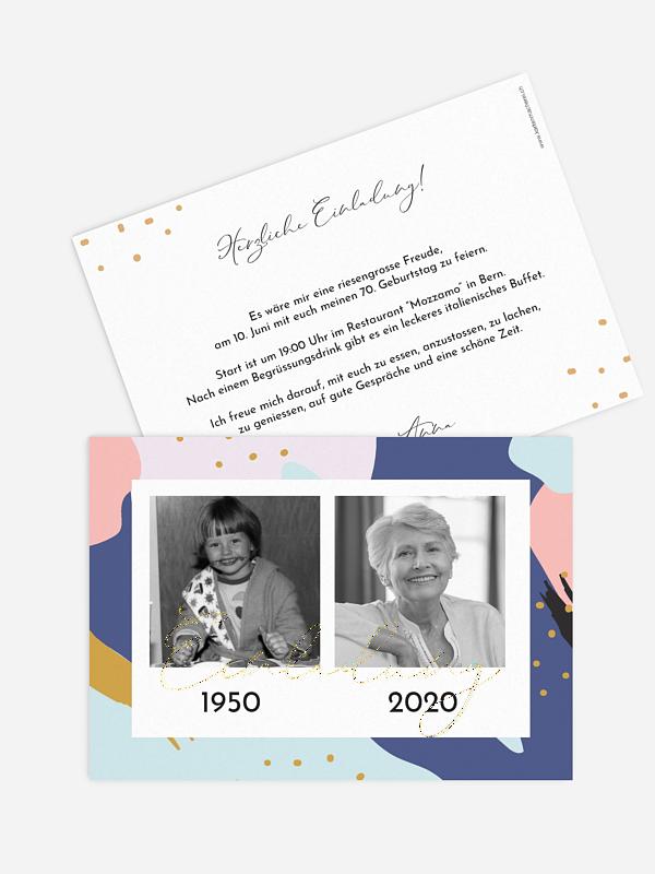 Einladung 70. Geburtstag Pattern