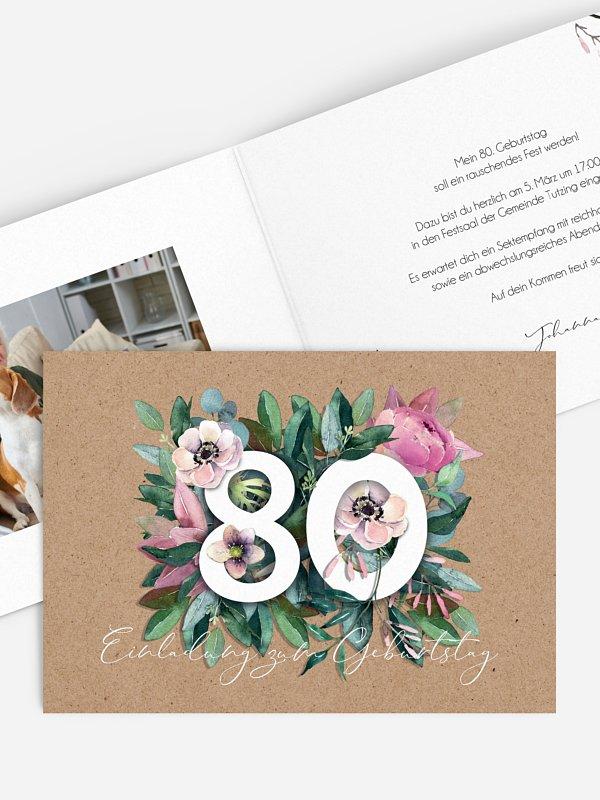 Einladung 80. Geburtstag Bloom