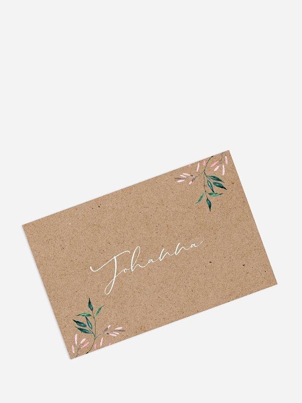 Tischkarte Geburtstag Bloom