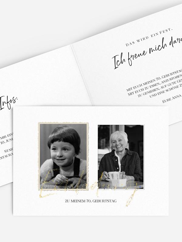 Einladung 70. Geburtstag Rückblende