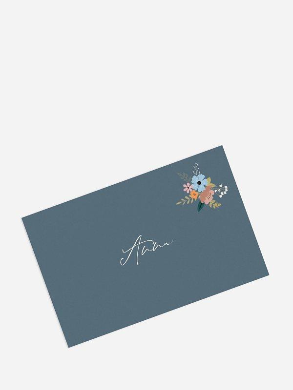 Tischkarte Geburtstag Blumenstrauß