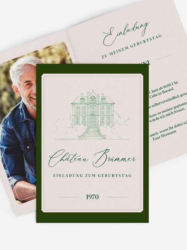 Einladung 50. Geburtstag Chateau