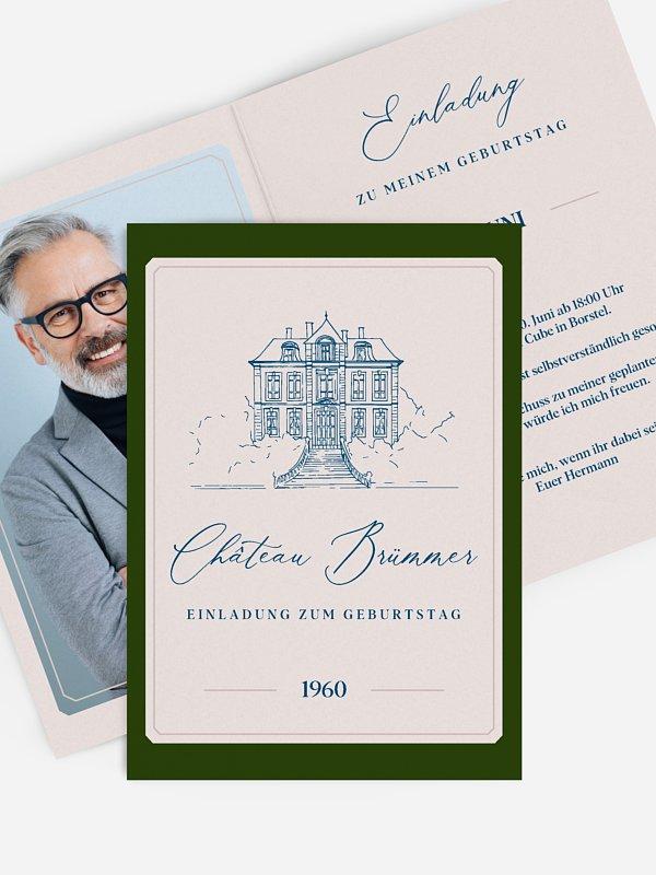 Einladung 60. Geburtstag Chateau