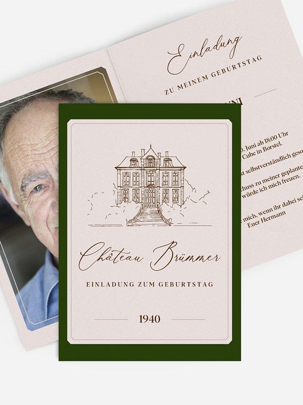 Einladung 80. Geburtstag Chateau