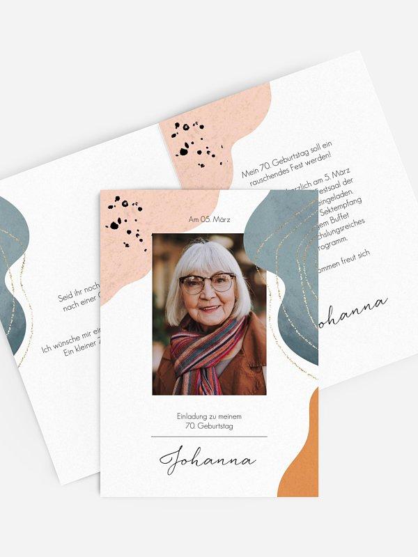 Einladung 70. Geburtstag Kunstvoll