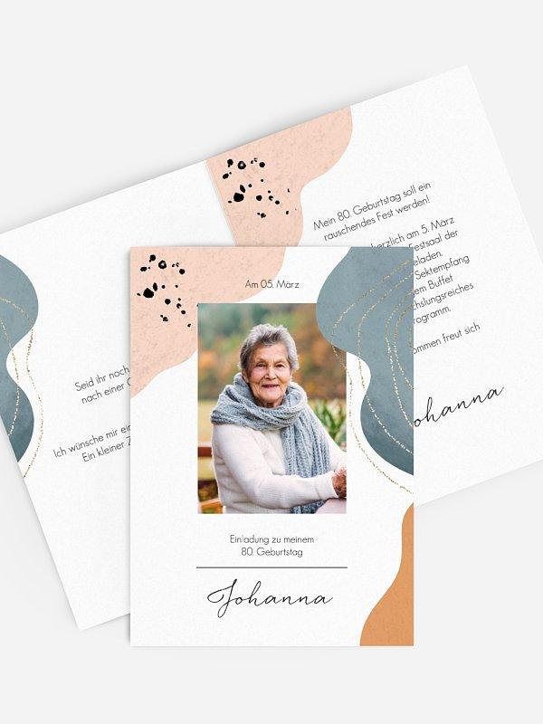 Einladung 80. Geburtstag Kunstvoll