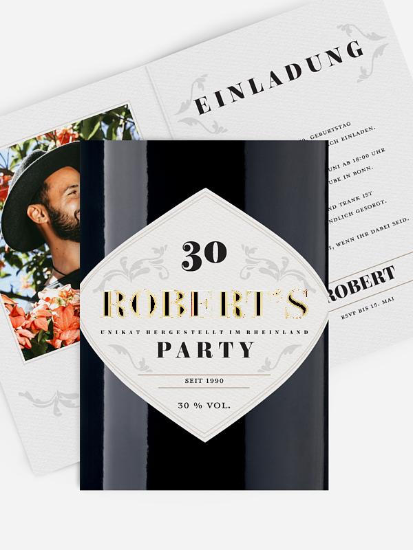 Einladung 30. Geburtstag Gintastic