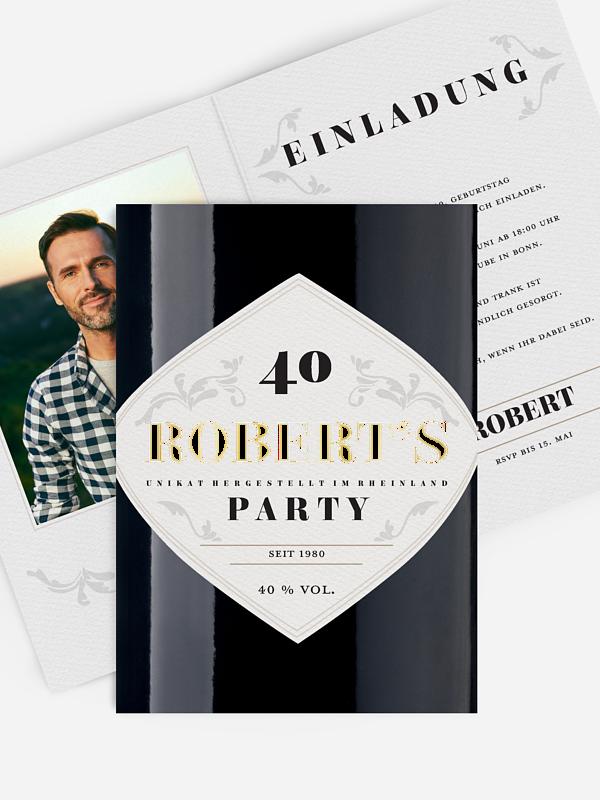 Einladung 40. Geburtstag Gintastic