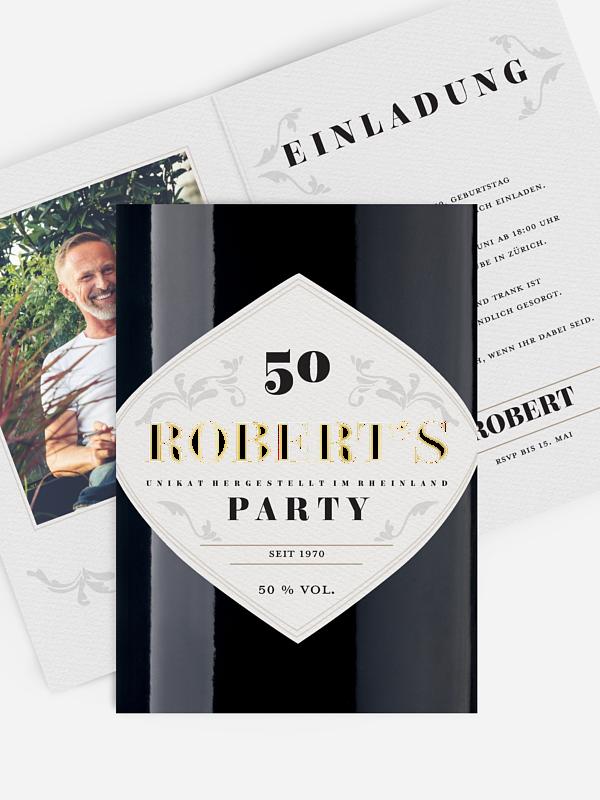 Einladung 50. Geburtstag Gintastic