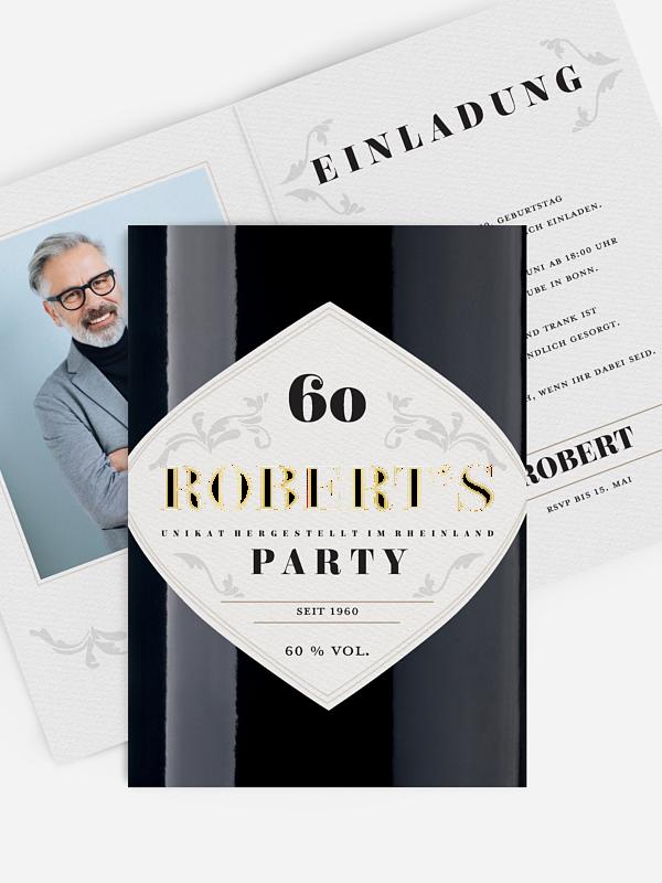 Einladung 60. Geburtstag Gintastic