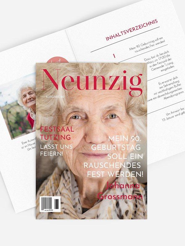 Einladung 90. Geburtstag Titelseite