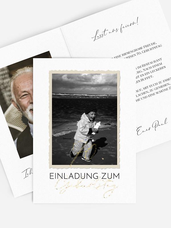 Einladung 70. Geburtstag Schnappschuss