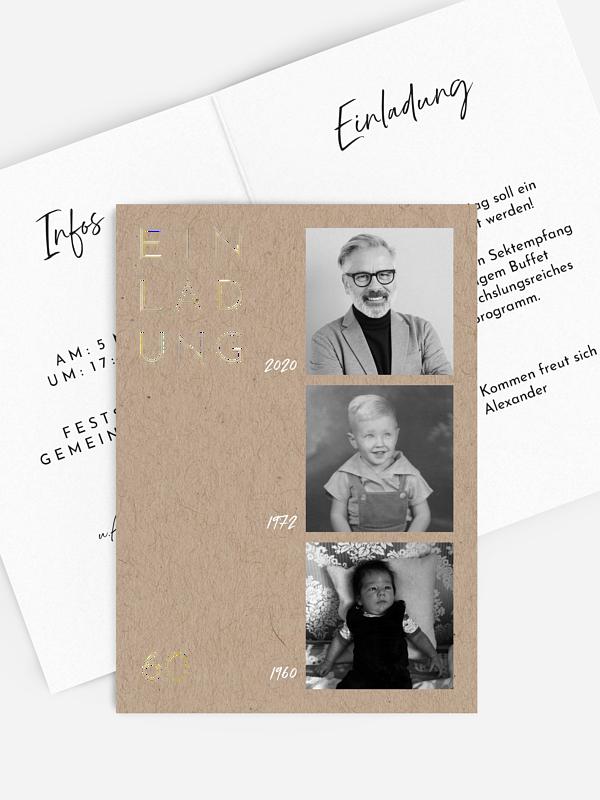 Einladung 60. Geburtstag Lebenslauf