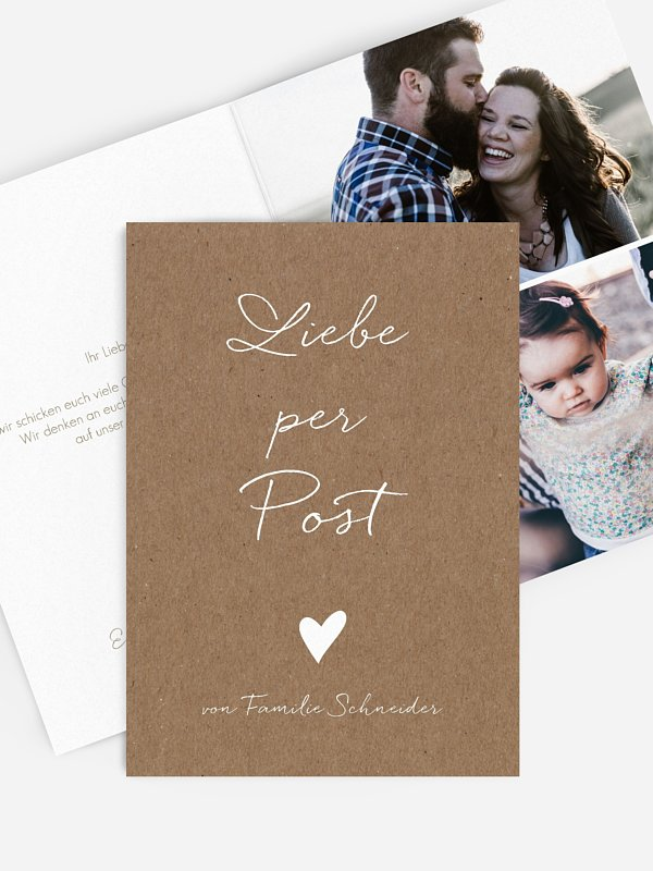 Grußkarte Liebe per Post