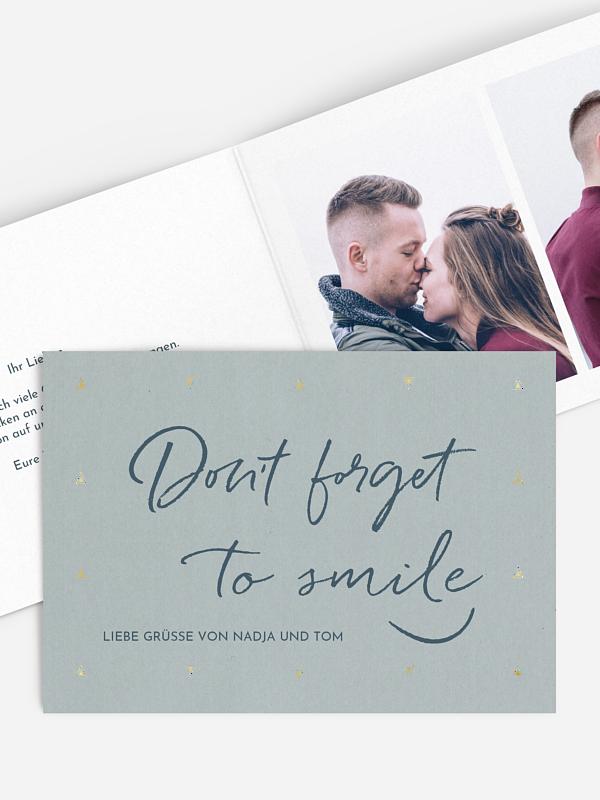 Grußkarte Smile